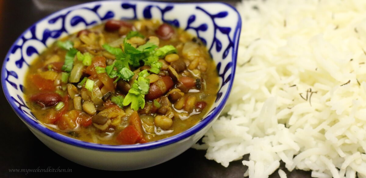 mixed dal recipe, Indian mixed lentils