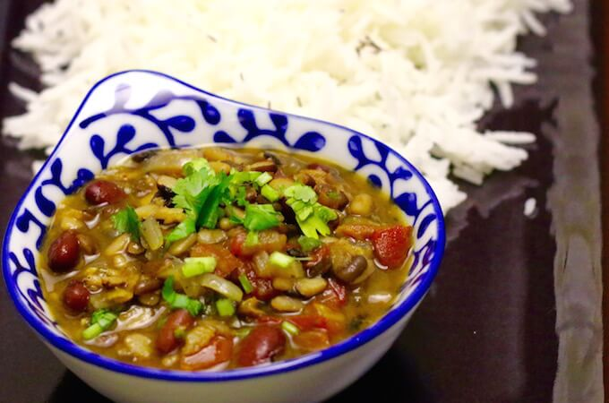 mixed dal recipe, dhaba dal, dhabey wali dal