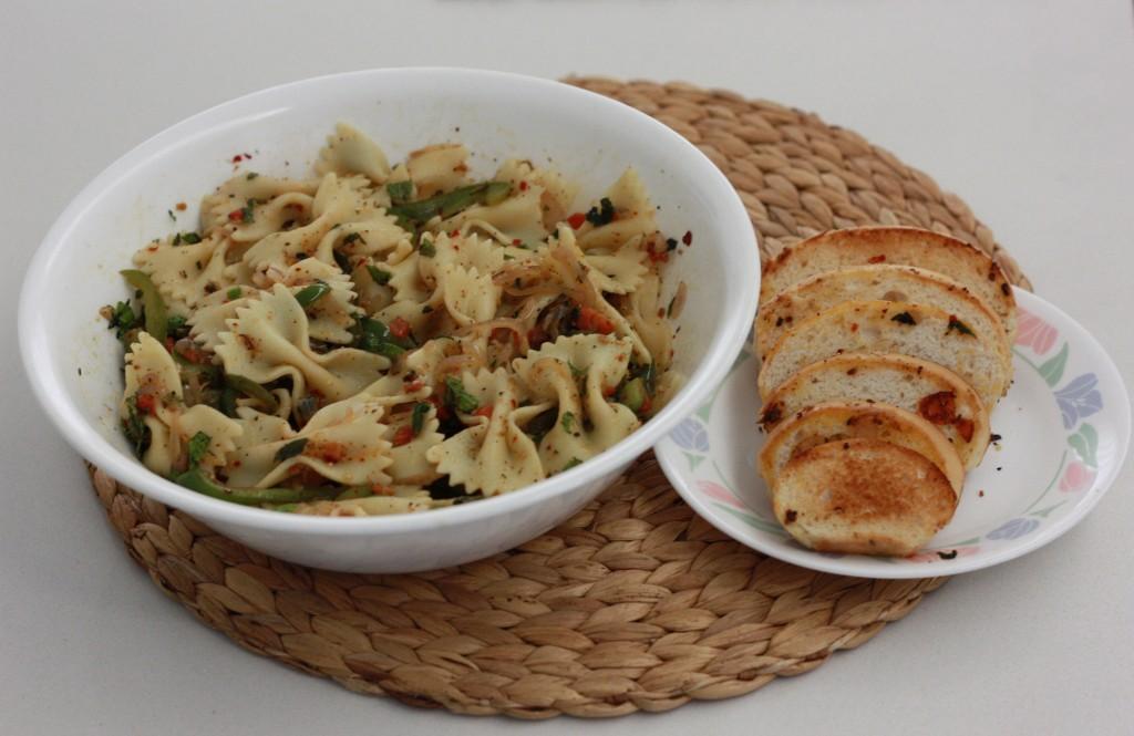 Easy no sauce pasta