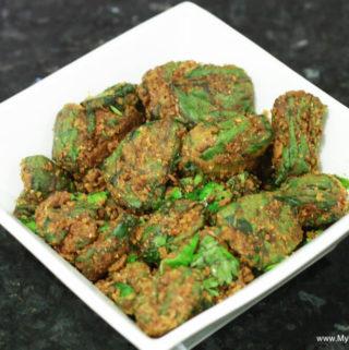 arbi ke patte ki sabzi (colocasia leaves' vegetable)