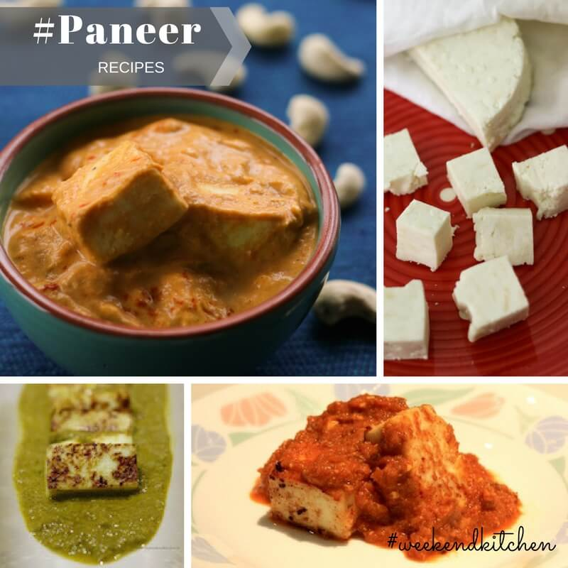 Collection of easy paneer recipes