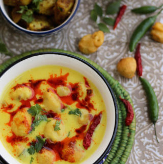 Kadhi Pakora Curry | Kadhi Chawal