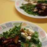 beetroot peas and cheese salad, beetroot salad, vegetable salad meal