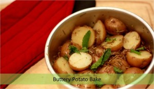 buttery potato bake, potato snack, baked potato, chatpate aaloo,