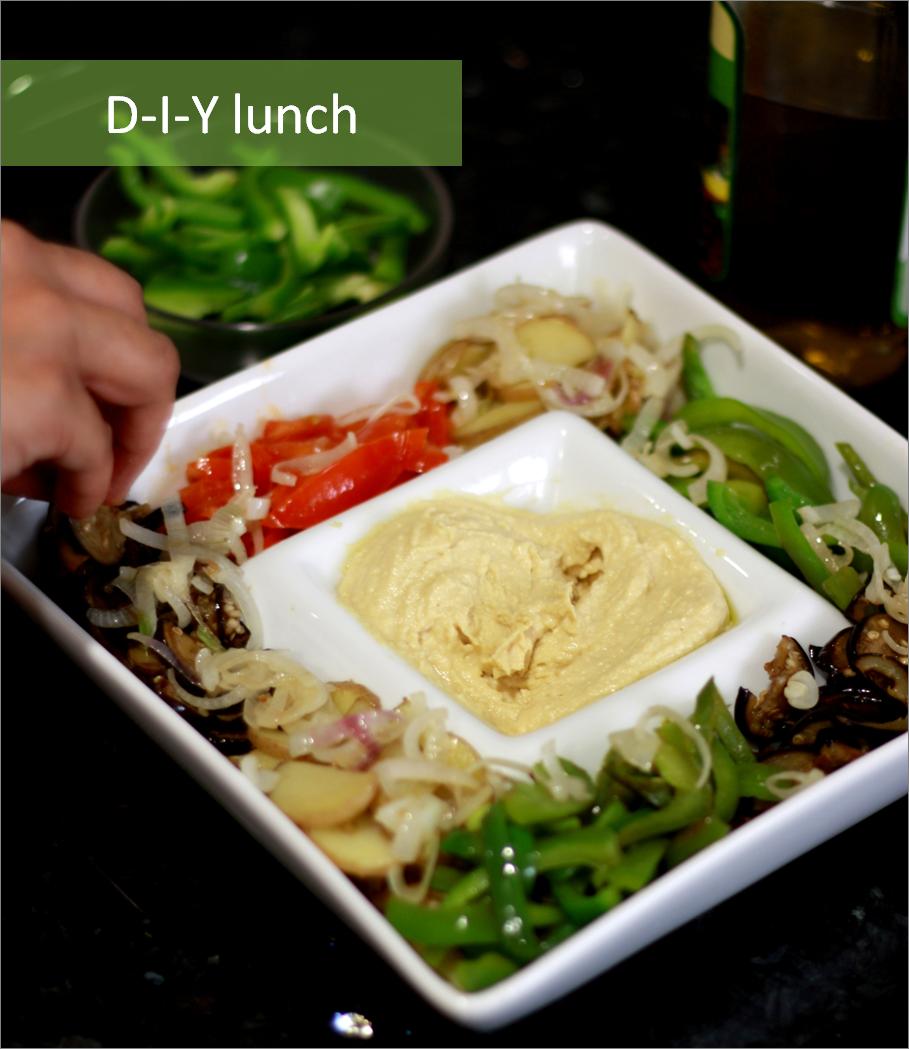DIY lunch: Assorted Veggies Pita Pockets
