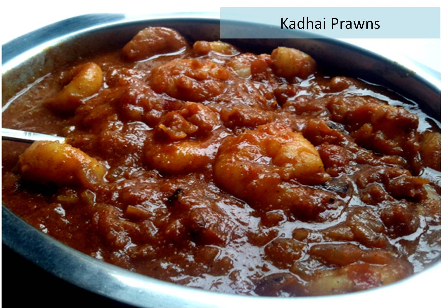 In my dorm: Kadhai Prawns