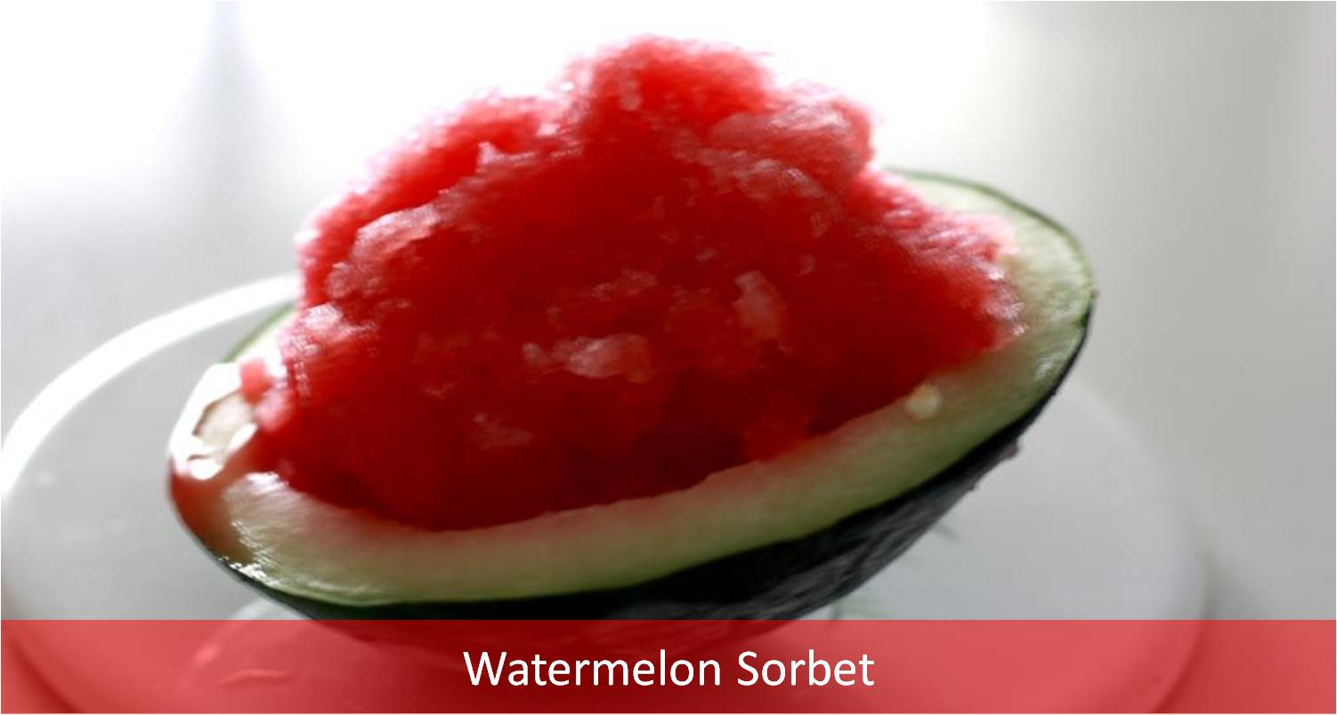 Watermelon Sorbet Recipe - My Weekend Kitchen