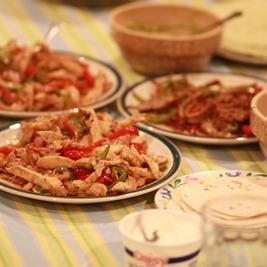 Vacation Food – Chicken and Beef Fajitas