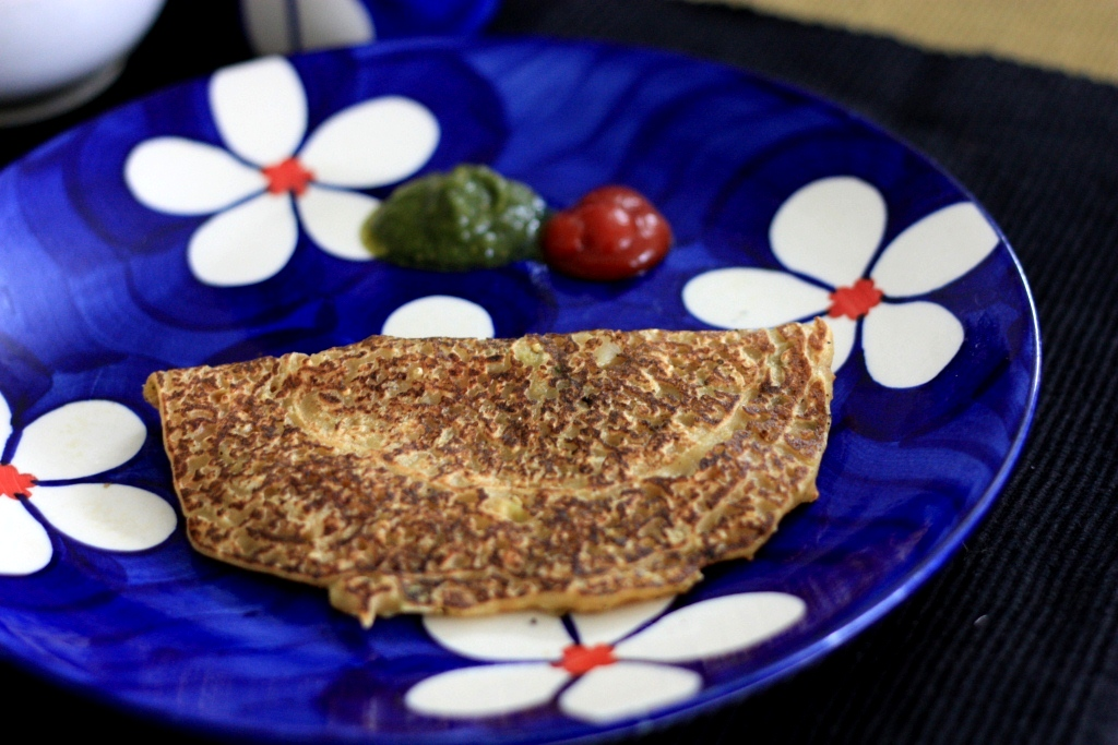Healthy Indian Savory Crepe - Multigrain cheele - a quick healthy meal