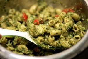 Mint almond Pesto Pasta- My Weekend Kitchen