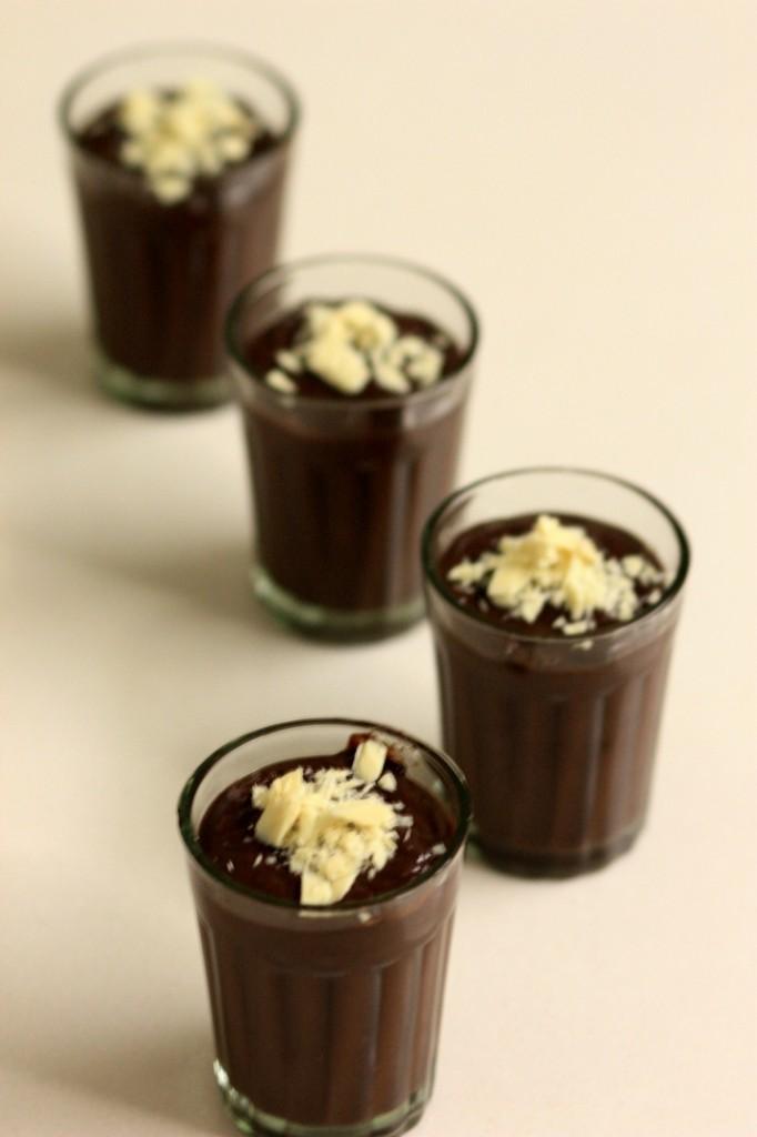 chocolate pudding shots - a take on Nigella Lawson's Budino Di Ciocclato