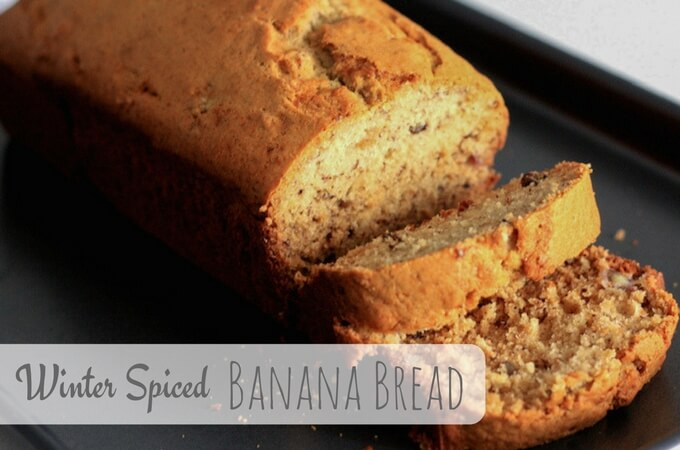 banana bread with winter spices