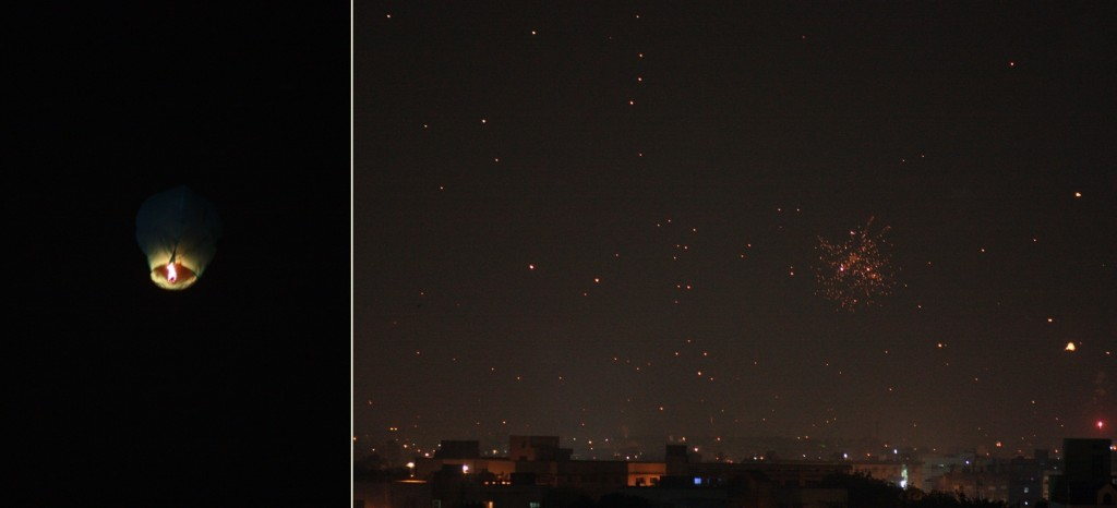 night sky during Uttarayan - Vadodara