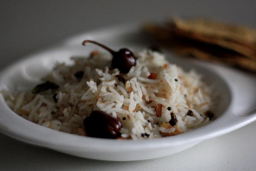 thenganikai annam, coconut rice, coconut flavored fragrant pilaf, pulao, south indian rice recipe