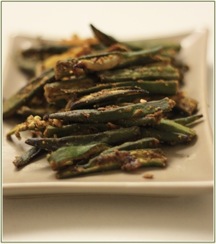 every day Indian cooking, bhindi fry, okra fry,