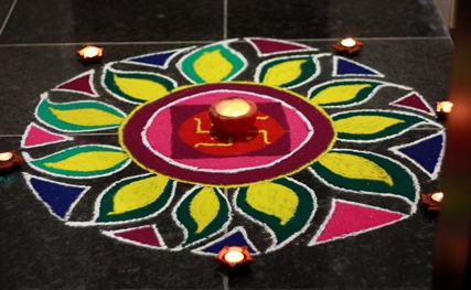 rangoli, diwali celebrations