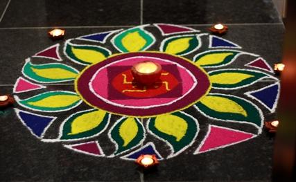 rangoli, diwali celebrations