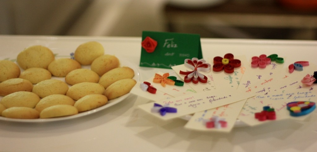 Orange cookies, Happy New Year cards, volunteering, art with heart, #artwithheart, volunteering in Angola