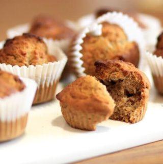 Sugar-free Eggless Banana muffins