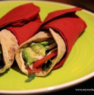 Avocado salad wraps – to go