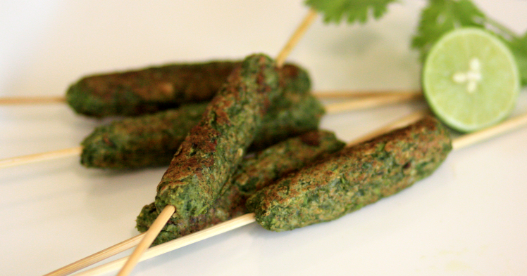 hara bhara kebab, veg grilling options, vegetarian kebabs, kebab on a stick
