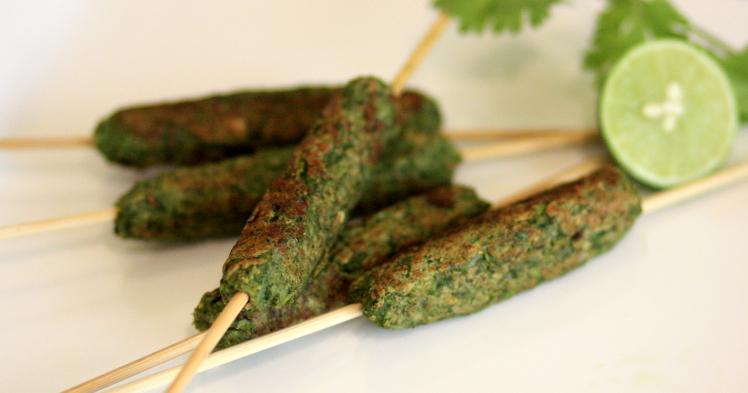 hara bhara kebab, veg grilling options, vegetarian kebabs, kebab on a stick