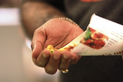 cornflake bhel puri, Indian street food, serving bhel puri in paper cones
