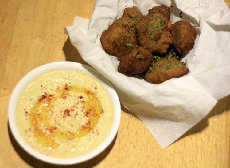 the easiest falafel, quick falafel recipe, falafel and hummus