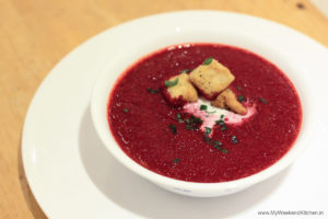 beetroot soup recipe, red beet soup