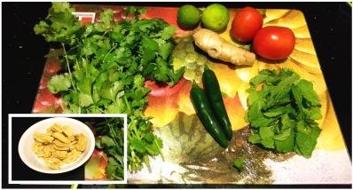 green chutney with secret ingredients