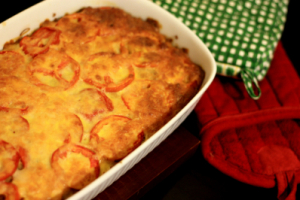 vegetarian moussaka, mousskaa recipe with soya mince, meat free moussaka