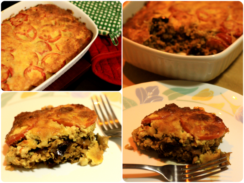 Vegetarian Moussaka, moussaka recipe with mince soya
