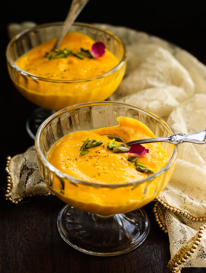 Indian mango souffle recipe with mango pulp and eggs