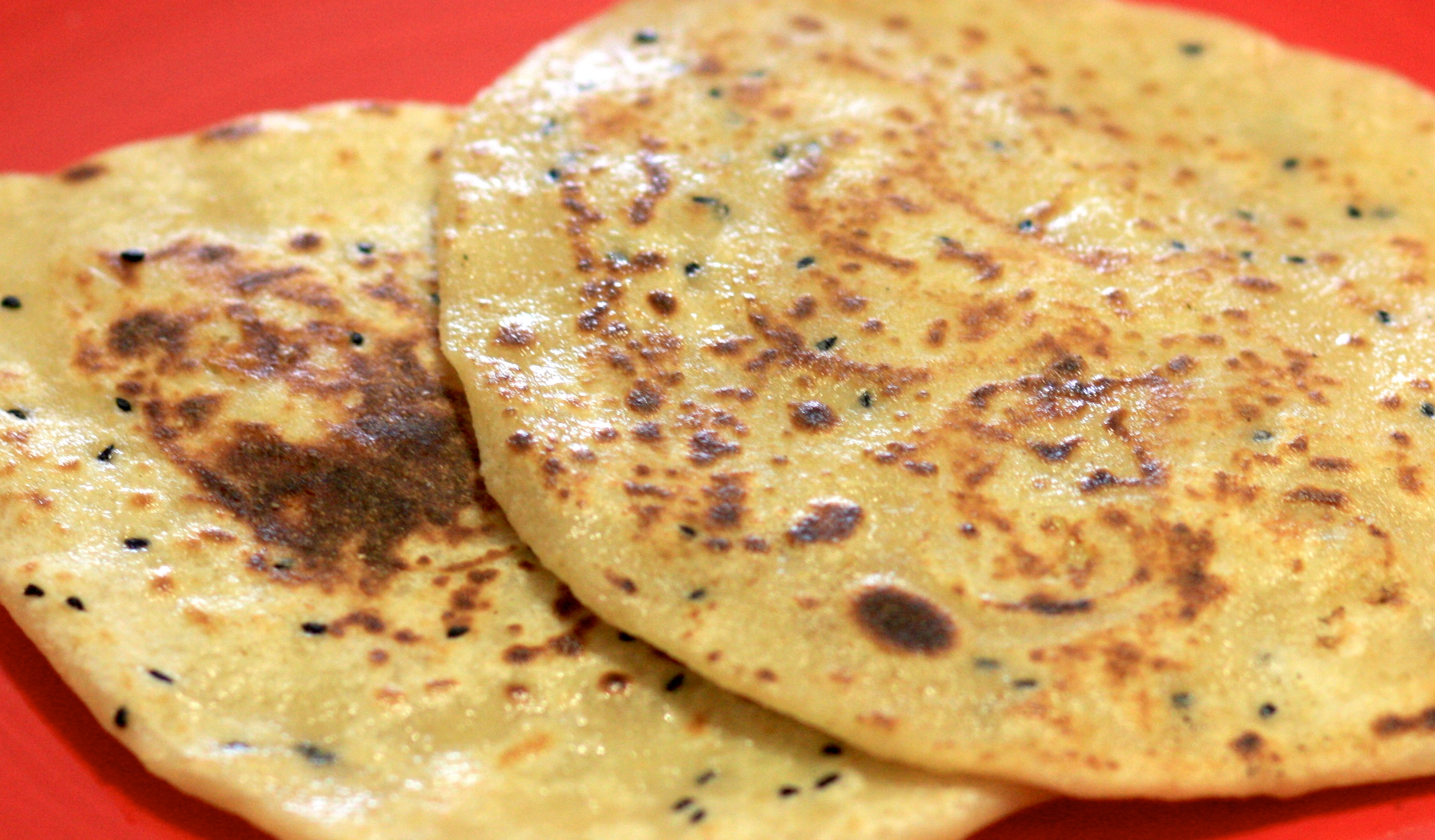 Whole wheat kulcha bread