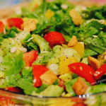 health in a bowl, salad bowl, apartment gardening, fresh homemade salad