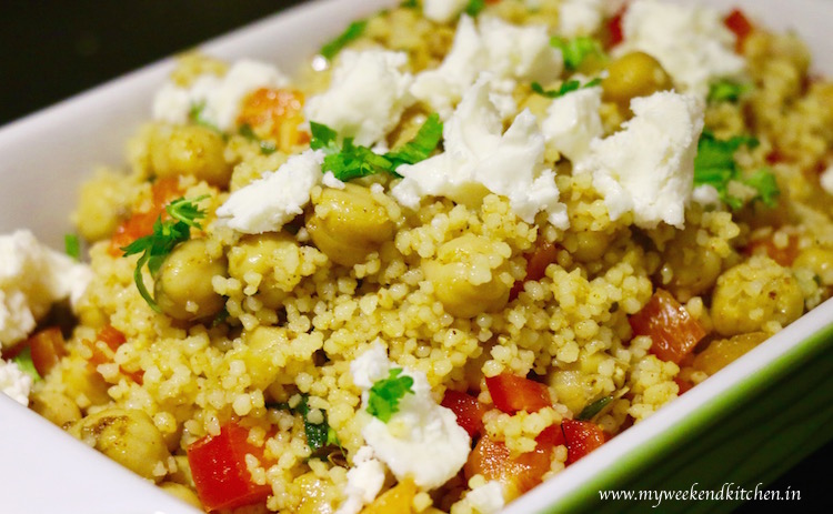 Couscous Salad with chickpeas and Raisins