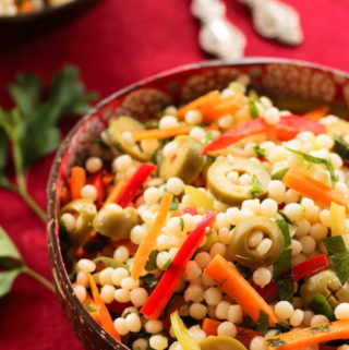 Ptitim Salad | Israeli couscous salad with herbs