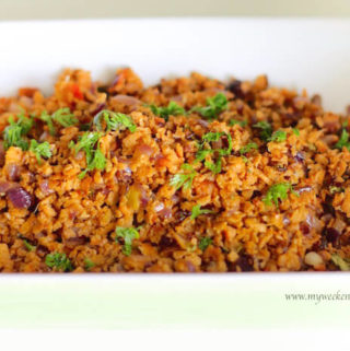 Soya mince vegetable fry