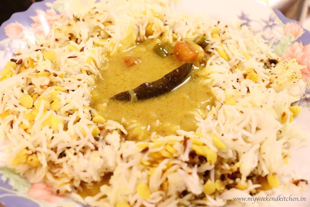 daal chawal palita, daal chawal sarki, daal chawal palida, lentil rice with curry