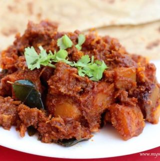 Kaddu ki sabzi (Indian style pumpkin fry)
