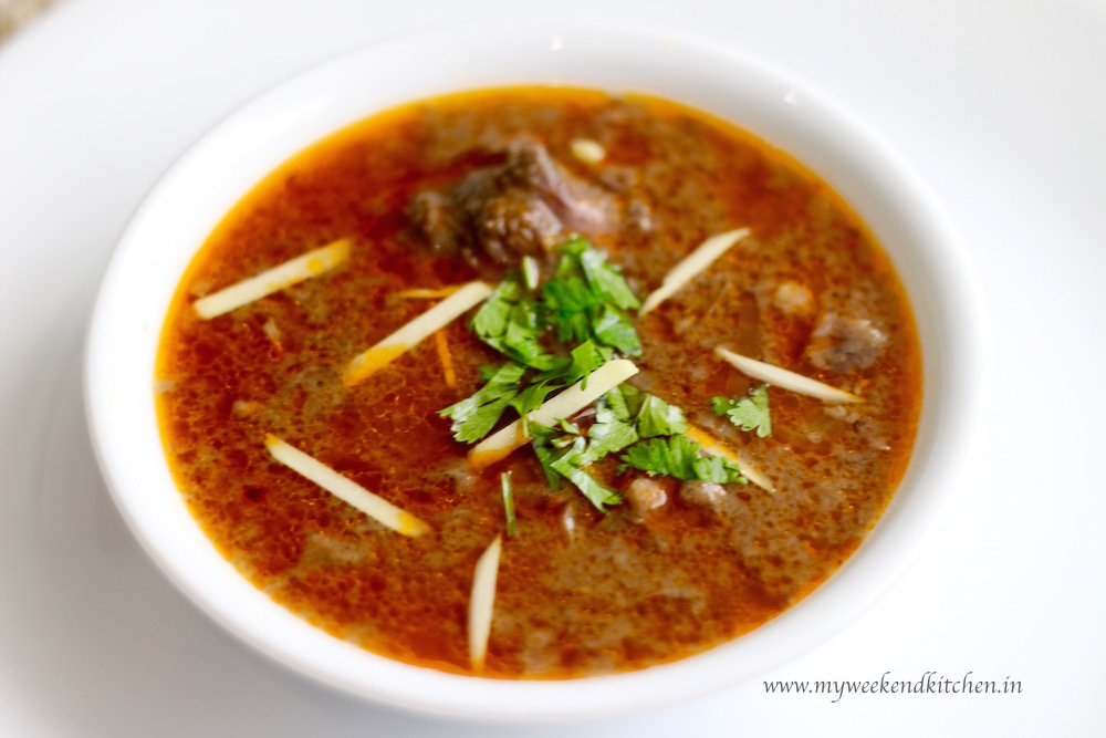 Mutton nihari recipe, nalli nihari recipe