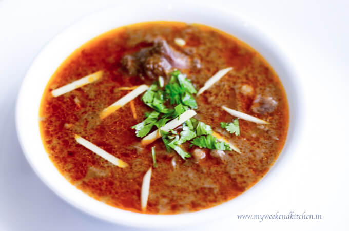 Mutton nihari recipe, nihari masala recipe