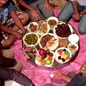 a traditional bohri meal in a big plate