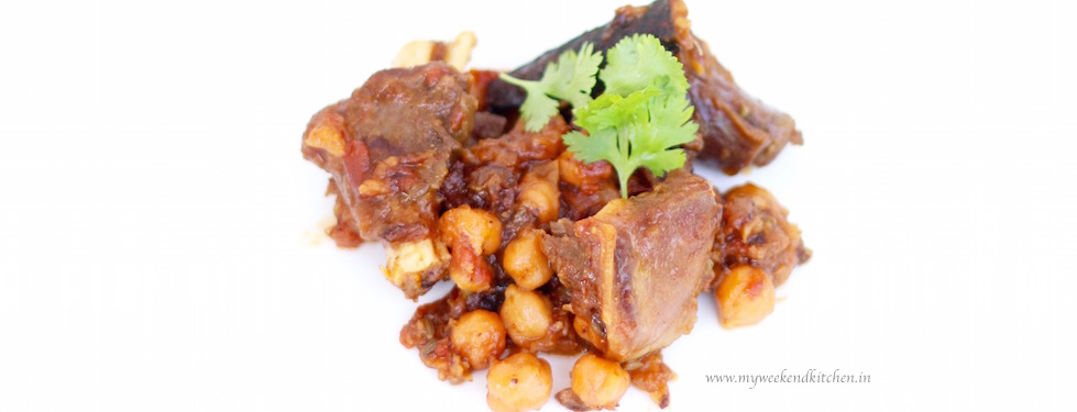 Slow-cooked Moroccan Lamb with chickpeas and apricots