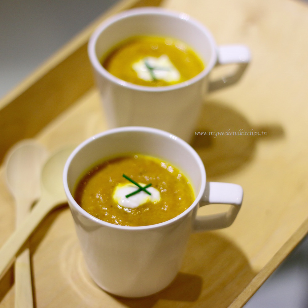 roasted carrot soup, carrot recipe, vegetarian soup