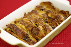 Chocolate Croissant and apple pudding recipe