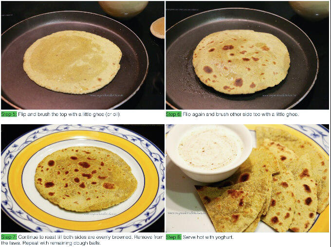 step by step recipe for Indian bead paratha