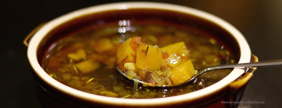 Clear Roasted Butternut Squash Soup