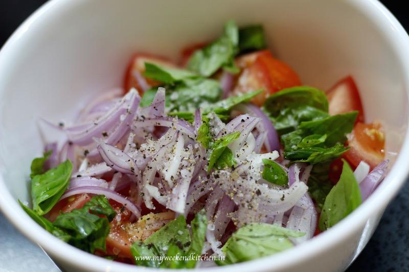 tomato onion and basil salad, pappa al pomodoro recipe