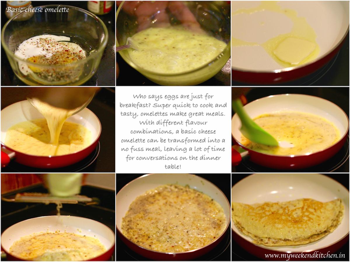 Basic cheese omelette recipe,